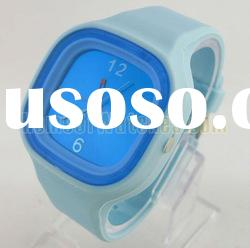 Fashion Square Blue Stainless Steel Quartz Wrist Watch