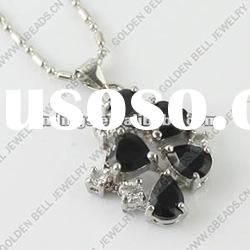 Fashion necklace with crystal glass, metal alloy, 21mm, 15-16inch, sold individually