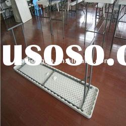Folding plastic table,Lightweight design table,Blow molded leisure plastic table