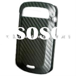 For Blackberry 9900/ 9930 Leather skin Hard Plastic case Carbon fiber Pattern with High Quality