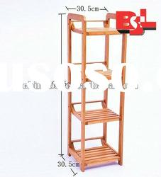 Four Tiers Wood Shoe Rack