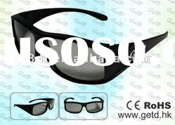 Getd 3D TV circular 3D glasses