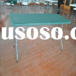 Green,6-Foot Plastic Table(HDPE,blow molded,plastic table)