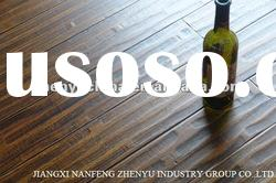 Hand-scraped strand woven bamboo flooring(Brass color)