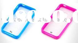 Hard PC Frame case for iPhone 4 with a hole for logo