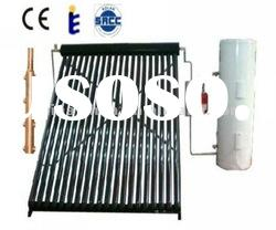 High pressure heat pipe separated solar hot water system