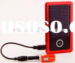 High quality solar mobile phone charger with flash memory