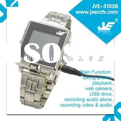 Hot sale! HD mini Watch pinhole Camera ,HD hidden dvr,Video Watch dvr JVE3105B