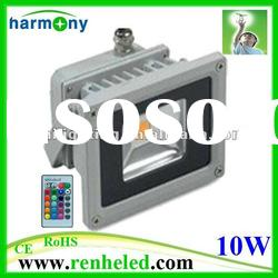 IP65 waterproof remote control 10w rgb led flood light 220v