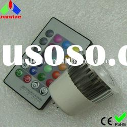 IR remote control mr16 rgb led spotlight