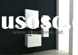 June New!!!High Quality High Glossy Modern White Bathroom Cabinet Furniture P12011