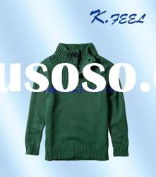 Kids green knitted sweater 2012 childrens fashion clothes