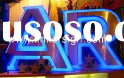 LED Channel Letter Sign With Stainless Steel Side And High Quality Acrylic panel