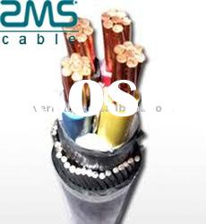LV Copper conductor PVC insulated steel wire armored PVC sheath power cable