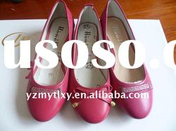 Ladies fashion leather flat simple casual shoes 2011