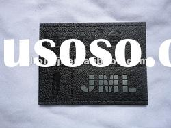 Leather patch,Metal Badge with Leather,jeans leather label