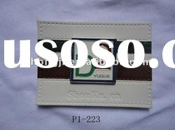 Leather patch leather label
