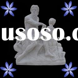 Marble stone figure old man statue