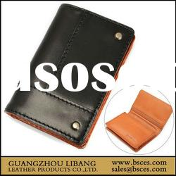 Men's pure leather business card holder