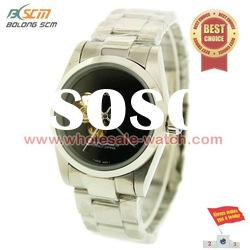New style ladies stainless steel fashion men watches with dial colours