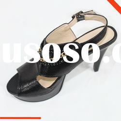New style leather dress shoes, women shoes fashion sandale 2012
