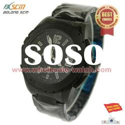 ODM black stainless steel Men watches