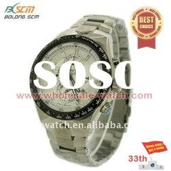 OEM fashion Quartz stainless steel Men watches with dial colours