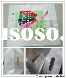 Plastic packing plastic bag with reinforced handle with good quality