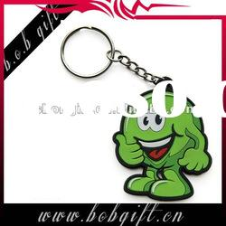 Promotional Rubber Soft PVC keyring