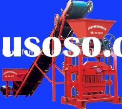 QTJ4-35B small cement fly ash concrete block making machinery