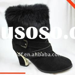 Rabbit fur of Ladies ankle boots, 2012 fashion ladies winter boots