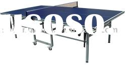 SJ-319 Double Folding Ping Pong Ball Table,Movable Tennis Table,Indoor Tennnis Table