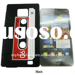 Silicone Skin Cover for Samsung i9100 Galaxy S2 with Tape Style(40600527B)