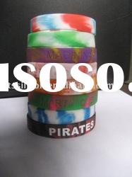 Silicone Wristbands Swirl Rubber Bracelets Wrist Bands
