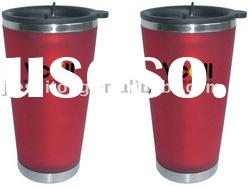 Stainless Steel and Plastic Travel Mug & Auto Mug without Handle