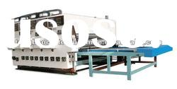 TB-480 semi-auto four color of water ink printing&slotting machine,corrugated machine