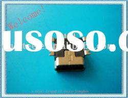 USB MINI 5P SMT female short pillar usb pcb socket