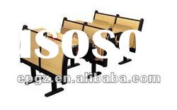 University Foldable desk and chair for School Furniture,University Student Step Desk and Chairs