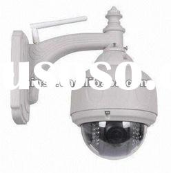 Vandal-proof IR PTZ Speed Dome IP Camera,22 x 5 IR LED lights.