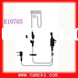 Walkie talkie acoustic tube earpiece