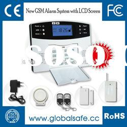 Wireless LCD Screen GSM Home Self Defense: Home Safe Security Alarm System