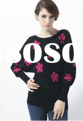 Women's round neck long sleeve sweater fashion 2012