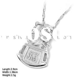[DZ-857] 925 Silver Jewelry, Sterling Silver Pendant without MOQ, Dragon Silver Pendant