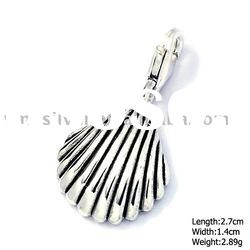 [PUP-095] 925 Silver Jewelry, Sterling Silver Pendant , Shell Pendant