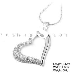 [V.ME] 925 Silver Jewelry, Sterling Silver Pendant with CZ Stone (PZB-0931)
