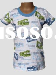 baby boys 100% cotton printed t-shirt cotton interlock