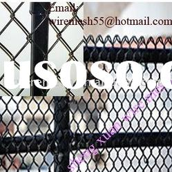 black vinyl coated chain link fence factory