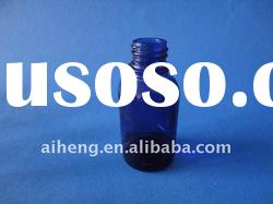 blue colored essential oil bottle