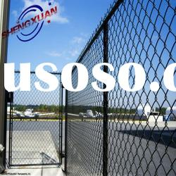 commercial security fence / chain link fence (black vinyl coated)