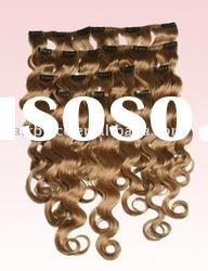 deep wave clip-in/clip-on human hair extension/wig/hair extension/remi hair